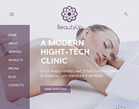 Сoncept of Site for Beauty Clinic