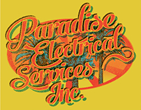 Paradise electrical vintage apparel design