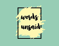 Words Unsaid // jcb