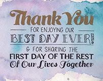 Wedding Signs | Handlettering