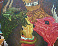 "Oil painting "" Memento Mori"" advance -"