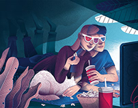 Editorial illustrations for Newsweek