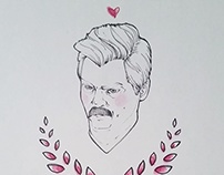 Parks and Rec - Valentines illustrations