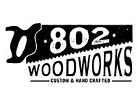 802 Woodworks Logo Design