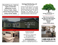 Heritage Distributing Promotional Material