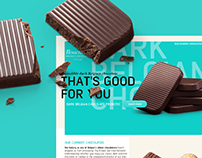 Website redesign for Bouchard Chocolates