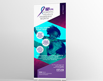 domestic violence awareness month pop up banner
