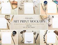 12+ Styled Scene Art Print Mock Ups