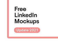 Free LinkedIn Mockups