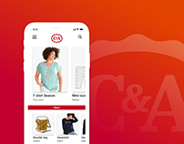 C&A - iPhone eCommerce App Design Concept