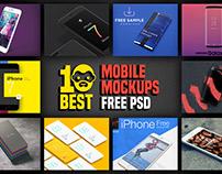 10 Best Mobile Mockups Free PSD