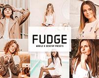 Free Fudge Mobile & Desktop Lightroom Presets