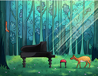 A piano in the forest