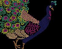 rhinestone peacock