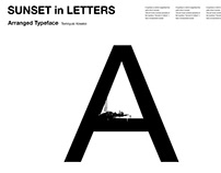 Sunset in Letters - Arranged Font