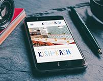 Kish-Kash Mobile + Desktop Nav Homepage Redesign