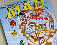 Mad Angry Birds Cover and Article Illos