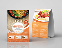 Restaurant Table Tent Template Vol.15