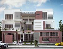 Modern Villa Elevation Design ( Kuwait )