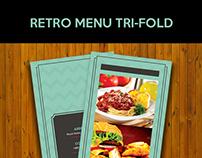 Retro Menu Tri-Fold