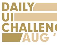 Aug - Daily UI Challenge