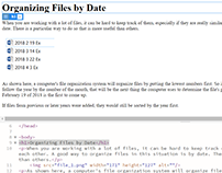 Organizing Files by Date