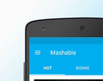 Mashable - Android App Material Design Concept