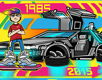 Back to the Future (Marty Mcfly and Delorean)