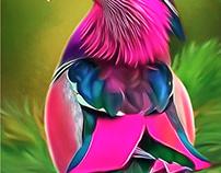 Beautiful Birds Series #2 Digital Art by Wayne Flint