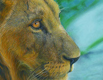 Lion Painting in Acrylic
