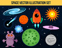Space Vector Illustration Set