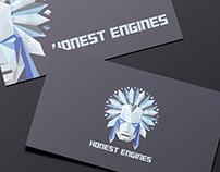 "Visual identity logo mark for ""Honest Engines"""
