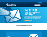 INFOTEC cloud website and branding