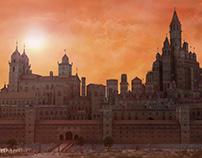 Fantasy City. 3d environment