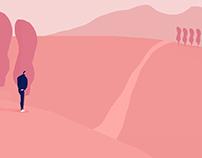 In pink fields