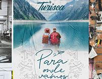 Turisca Viagens   Brand logo tourism