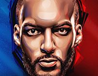 French NBA Players - Portraits