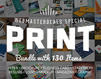 Ultimate Print Templates Bundle with 130 Items - Only $