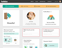 Hofeto User Experience Design / Screens
