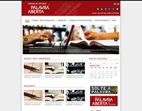 Projeto do site do Centro de Estudos Palavra Aberta