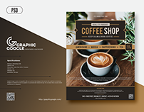 FreeModern Coffee Flyer Template