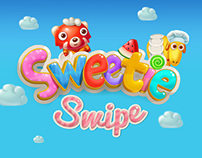 Sweetie Swipe game illustrations.