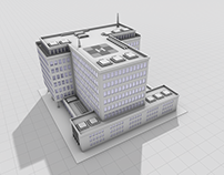 3D Hospital Rendering
