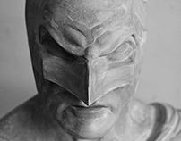 Dark Knight bust - in process