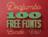 Dealjumbo 100 Free Fonts Giga Bundle v.1