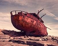 Brave enough to sail on rocks