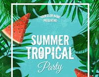 Summer Party Posters - Vector Free for Freepik (Part.2)