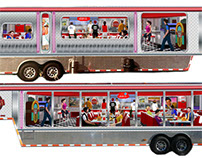 1950s Diner Food Truck