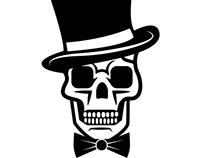 Gentleman's skull vector image.