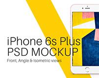 iPhone 6s Plus Rose Gold PSD Mockup